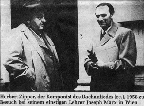 Foto von Marx mit Herbert Zipper